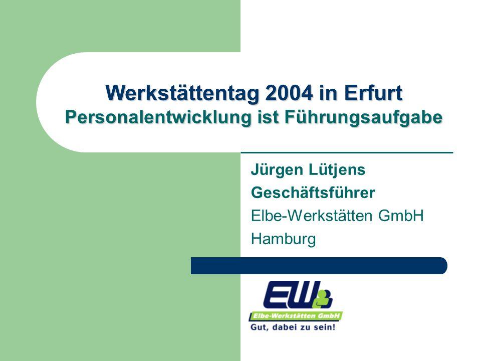 Werkstättentag 2004 in Erfurt Personalentwicklung ist Führungsaufgabe