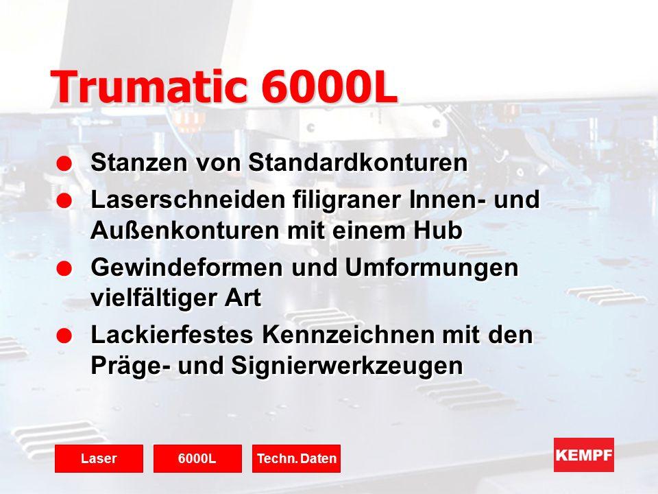 Trumatic 6000L Stanzen von Standardkonturen