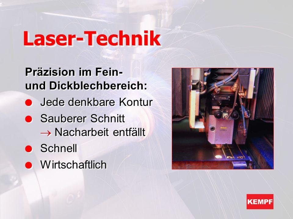 Laser-Technik Präzision im Fein- und Dickblechbereich: