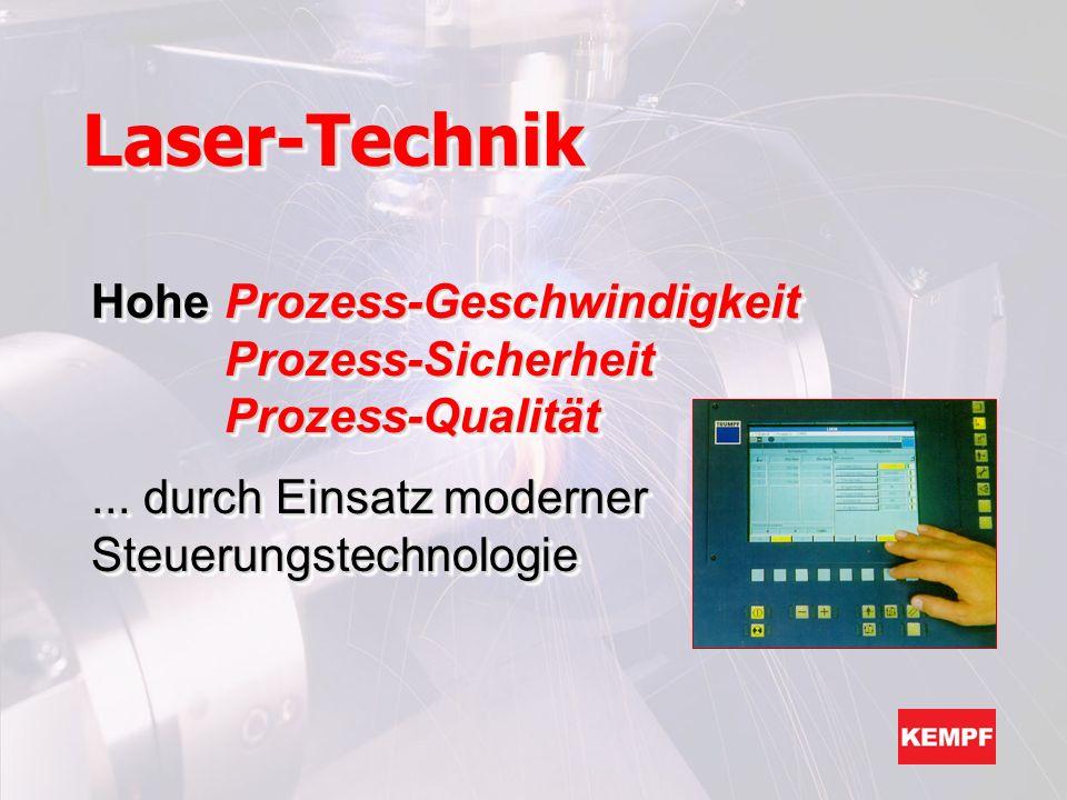 Laser-Technik Hohe Prozess-Geschwindigkeit Prozess-Sicherheit Prozess-Qualität.