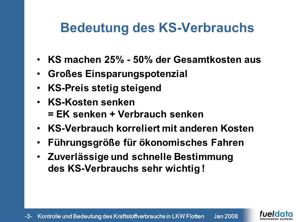 Bedeutung des KS-Verbrauchs