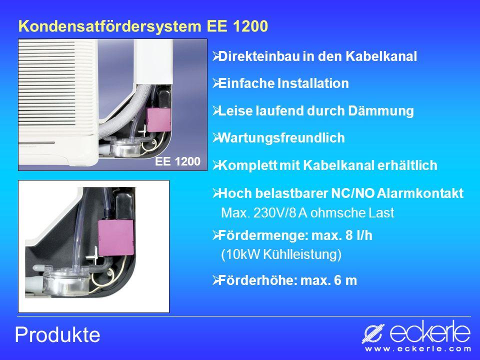 Produkte Kondensatfördersystem EE 1200 Direkteinbau in den Kabelkanal