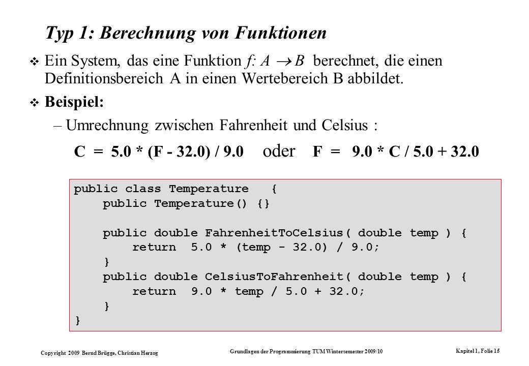 Typ 1: Berechnung von Funktionen