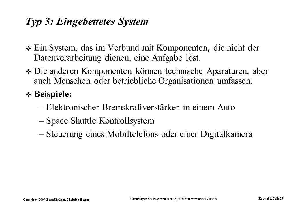 Typ 3: Eingebettetes System