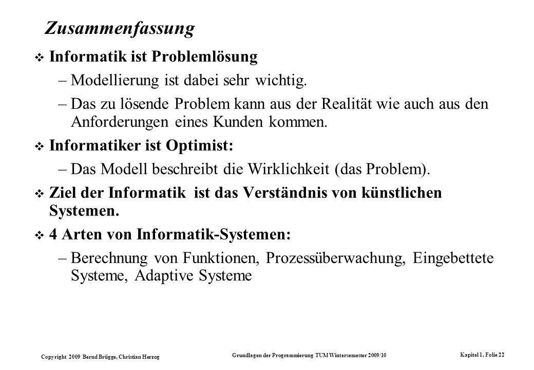 Zusammenfassung Informatik ist Problemlösung