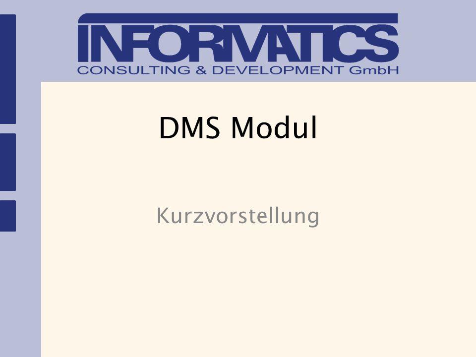 DMS Modul Kurzvorstellung