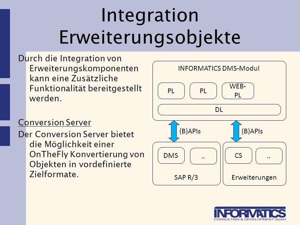 Integration Erweiterungsobjekte