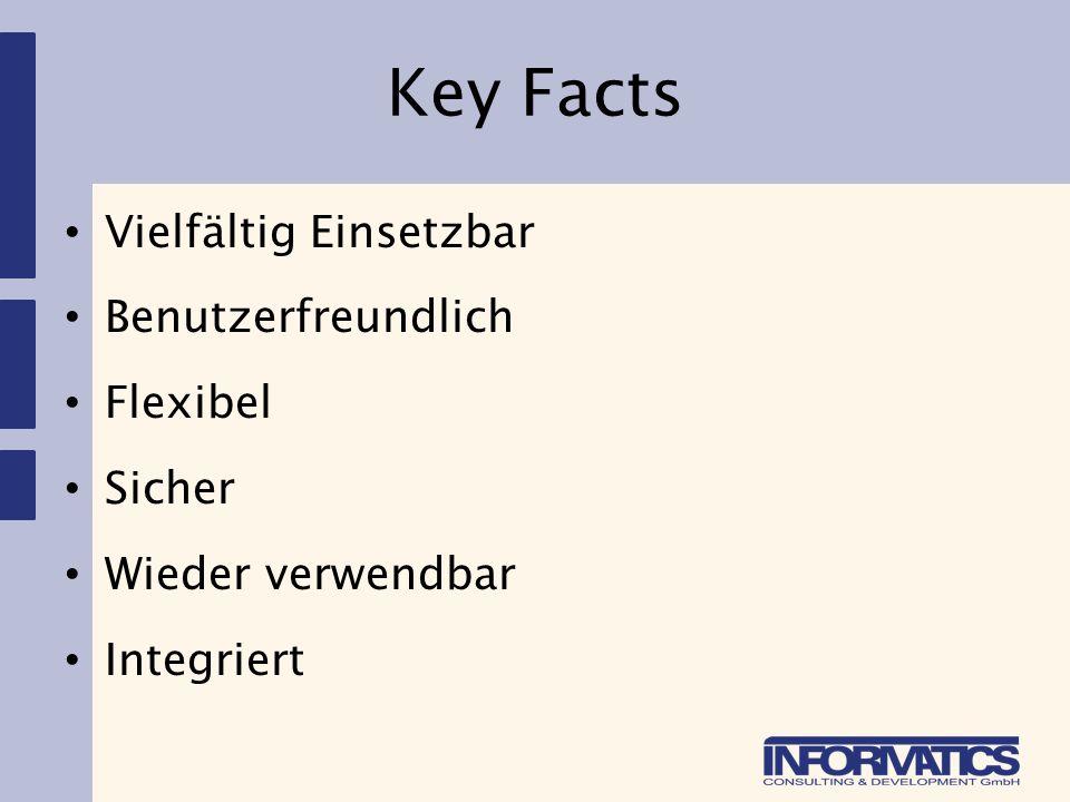 Key Facts Vielfältig Einsetzbar Benutzerfreundlich Flexibel Sicher