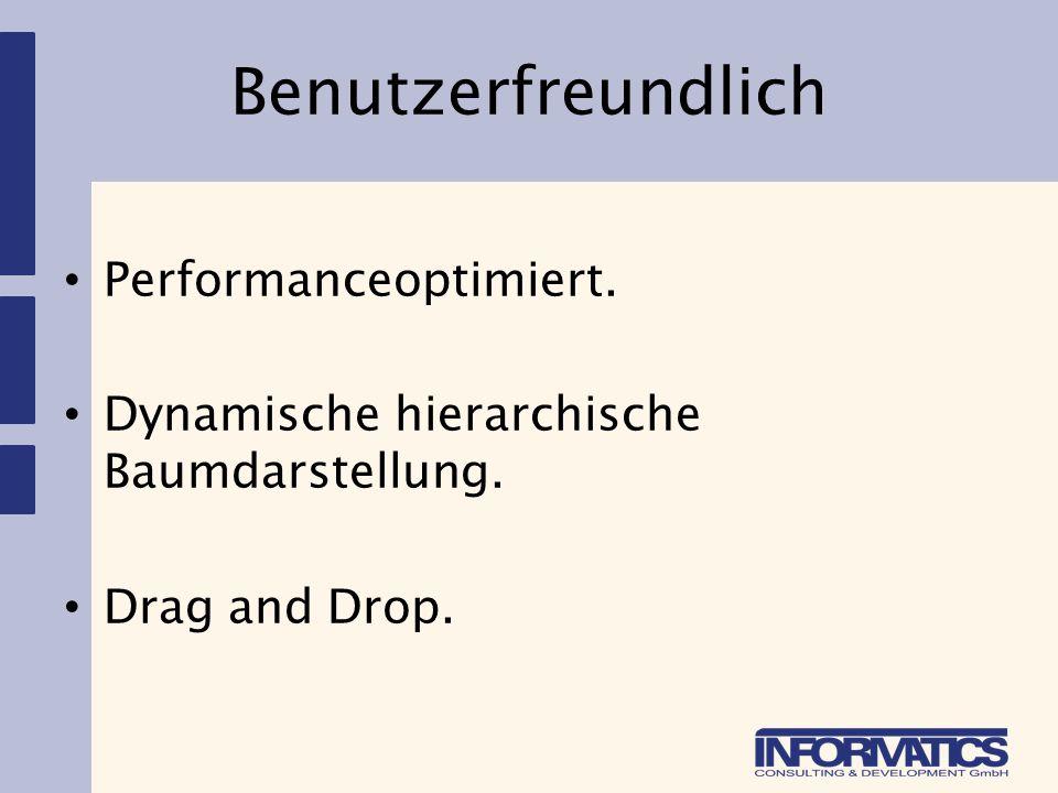 Benutzerfreundlich Performanceoptimiert.