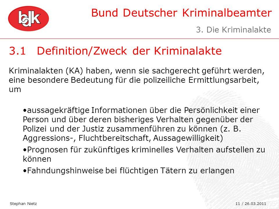 3.1 Definition/Zweck der Kriminalakte