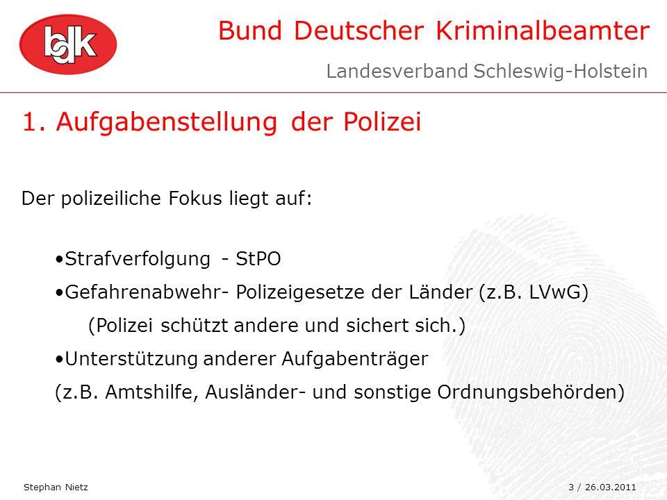 1. Aufgabenstellung der Polizei