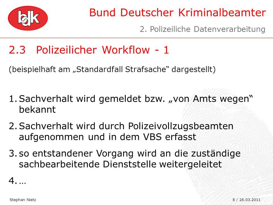 2.3 Polizeilicher Workflow - 1