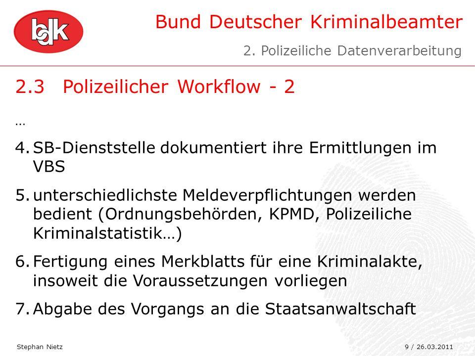 2.3 Polizeilicher Workflow - 2