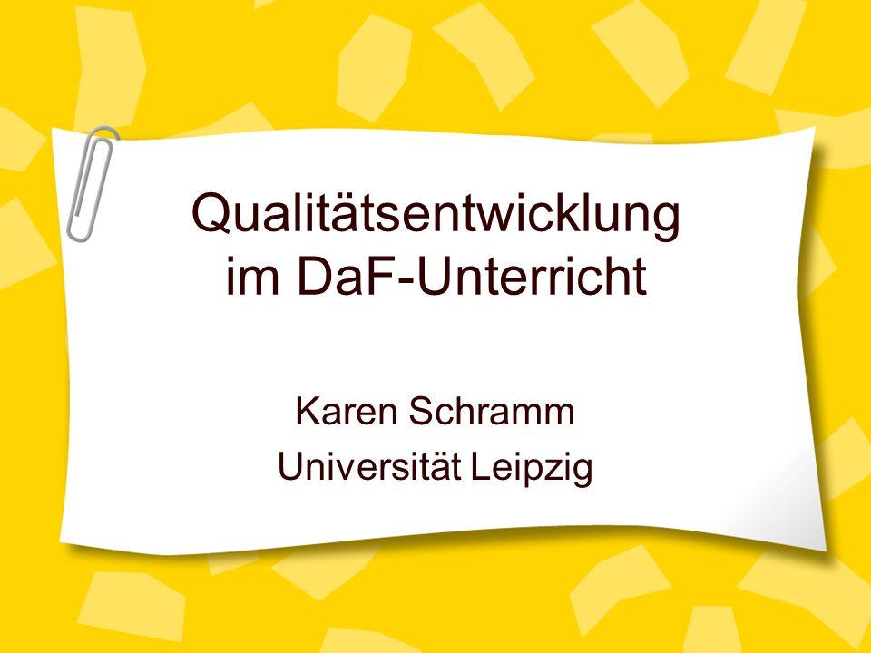 Qualitätsentwicklung im DaF-Unterricht