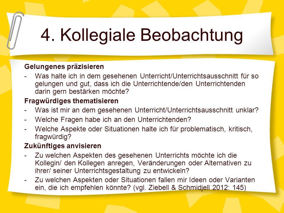 4. Kollegiale Beobachtung