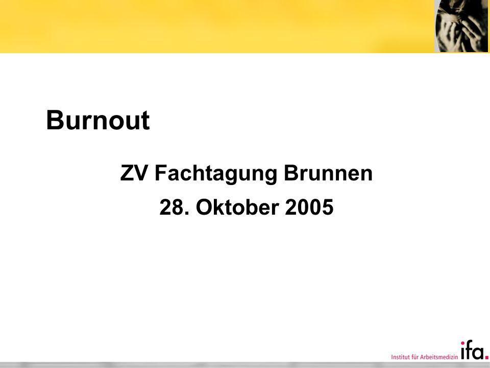 ZV Fachtagung Brunnen 28. Oktober 2005