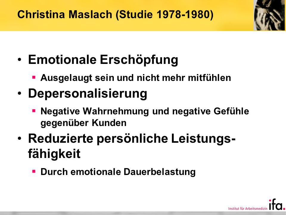 Christina Maslach (Studie 1978-1980)