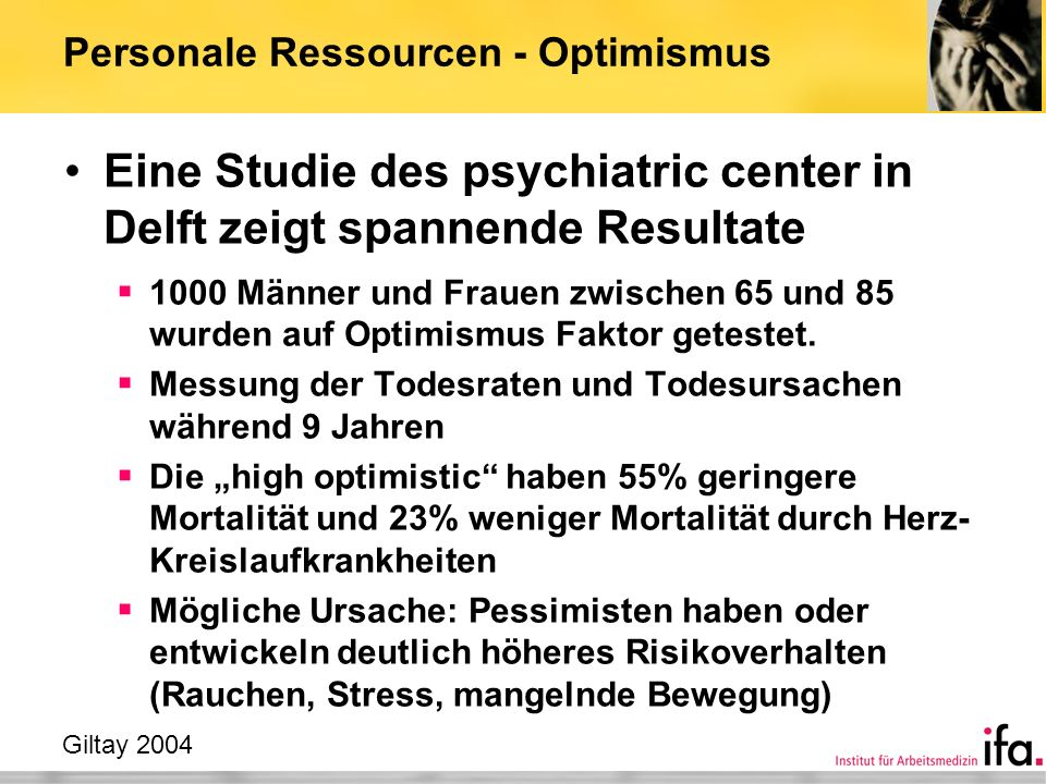 Personale Ressourcen - Optimismus