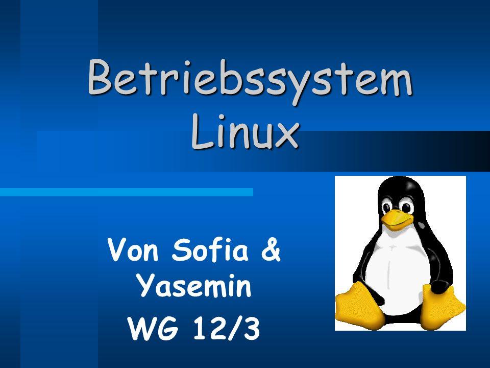 Betriebssystem Linux Von Sofia & Yasemin WG 12/3