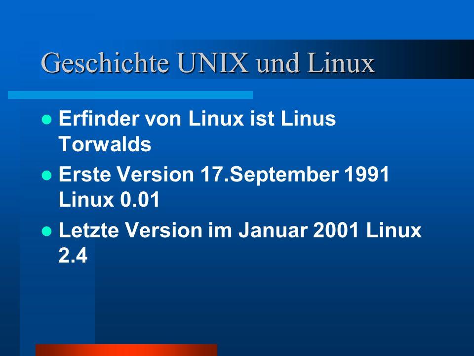 Geschichte UNIX und Linux