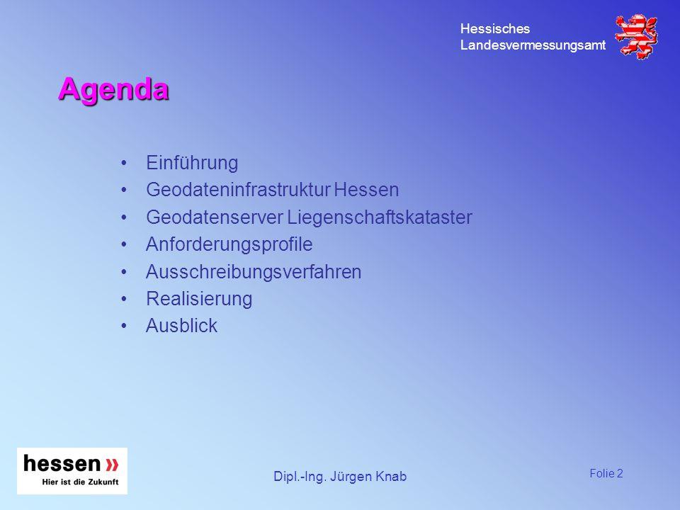 Agenda Einführung Geodateninfrastruktur Hessen