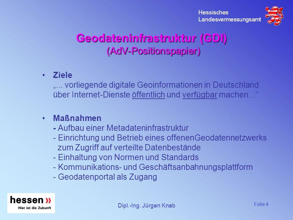Geodateninfrastruktur (GDI) (AdV-Positionspapier)