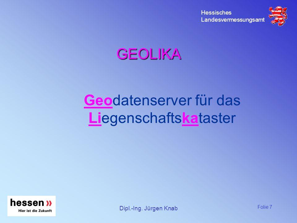 Geodatenserver für das Liegenschaftskataster
