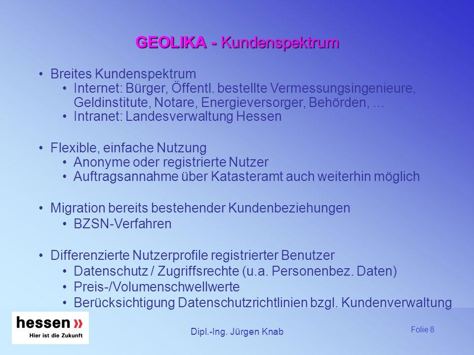 GEOLIKA - Kundenspektrum