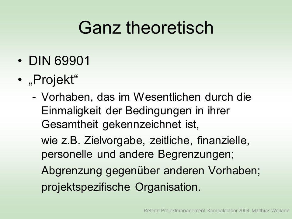"""Ganz theoretisch DIN 69901 """"Projekt"""