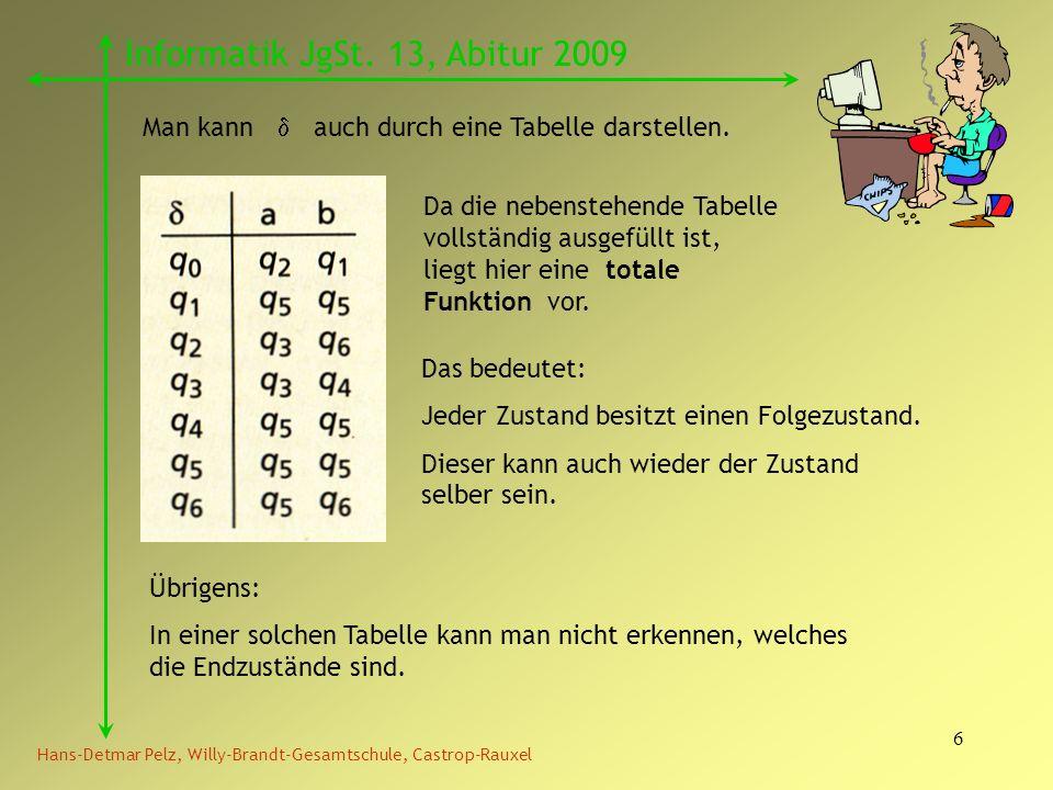 Informatik JgSt. 13, Abitur 2009