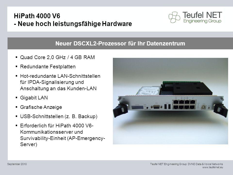 HiPath 4000 V6 - Neue hoch leistungsfähige Hardware