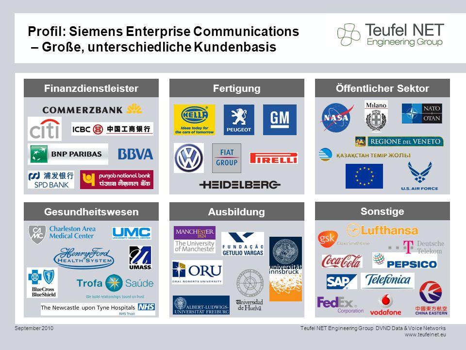 Profil: Siemens Enterprise Communications – Große, unterschiedliche Kundenbasis