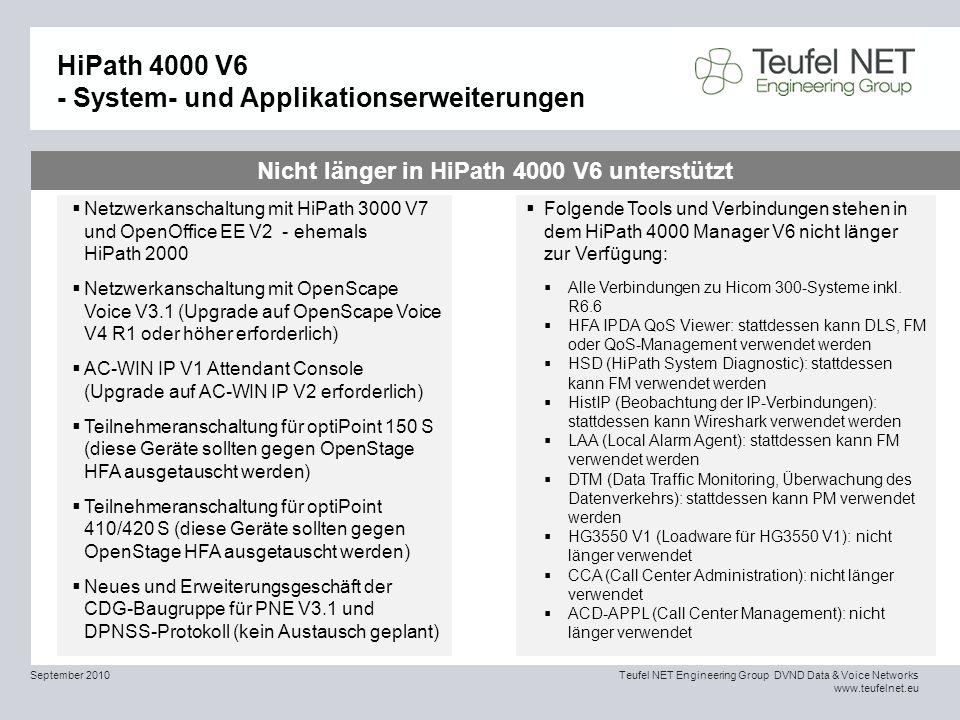 HiPath 4000 V6 - System- und Applikationserweiterungen