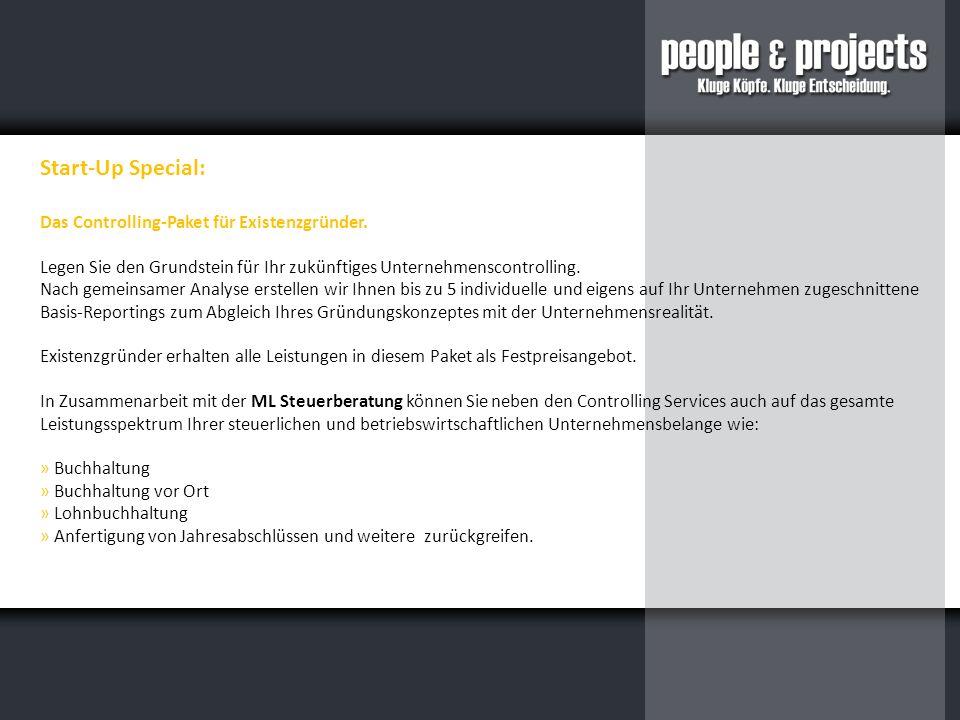 Start-Up Special: Das Controlling-Paket für Existenzgründer.