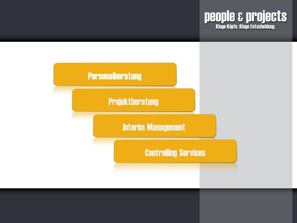Personalberatung Projektberatung Interim Management Controlling Services