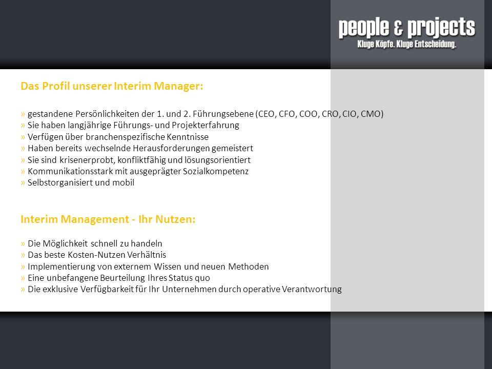 Das Profil unserer Interim Manager: