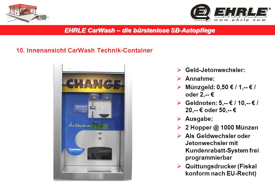 10. Innenansicht CarWash Technik-Container