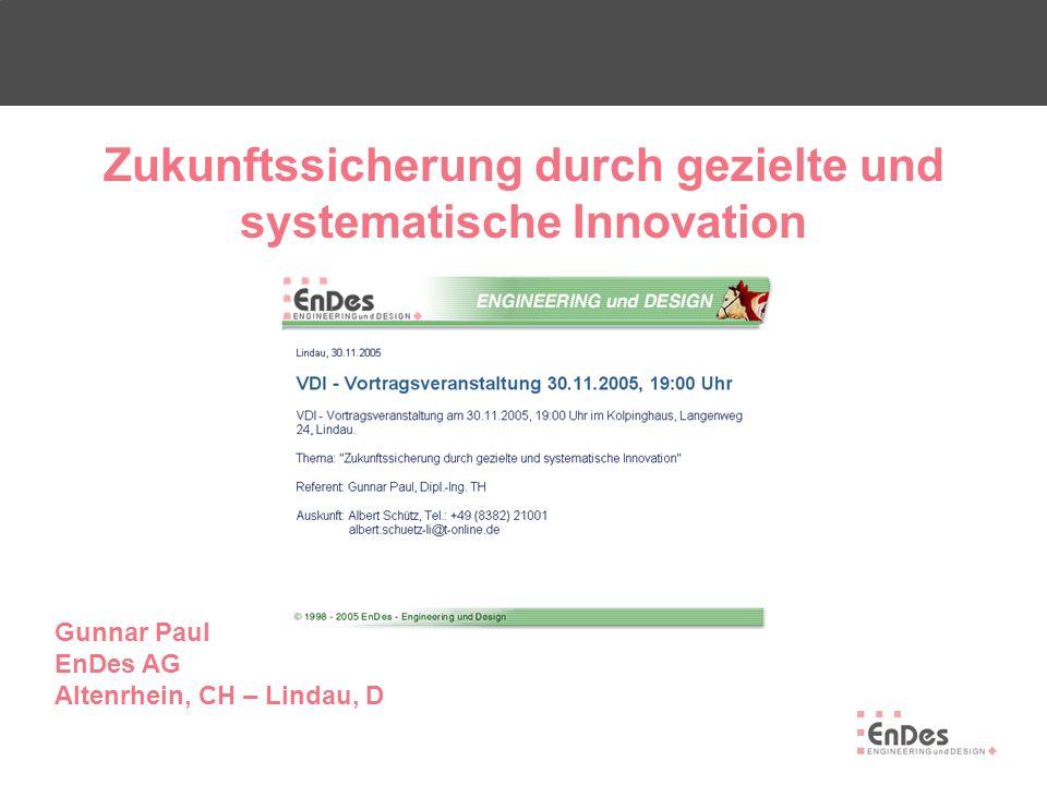 Zukunftssicherung durch gezielte und systematische Innovation