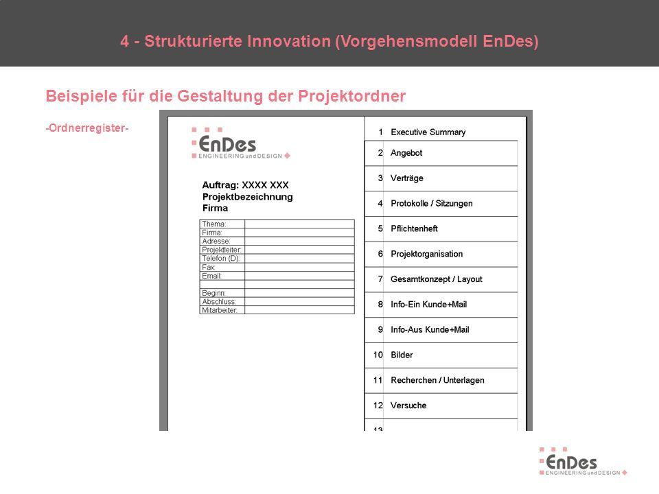 4 - Strukturierte Innovation (Vorgehensmodell EnDes)