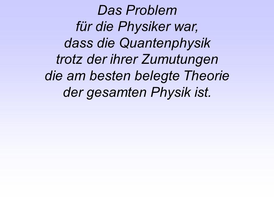 dass die Quantenphysik trotz der ihrer Zumutungen