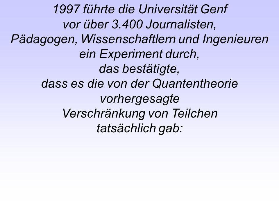1997 führte die Universität Genf vor über 3.400 Journalisten,