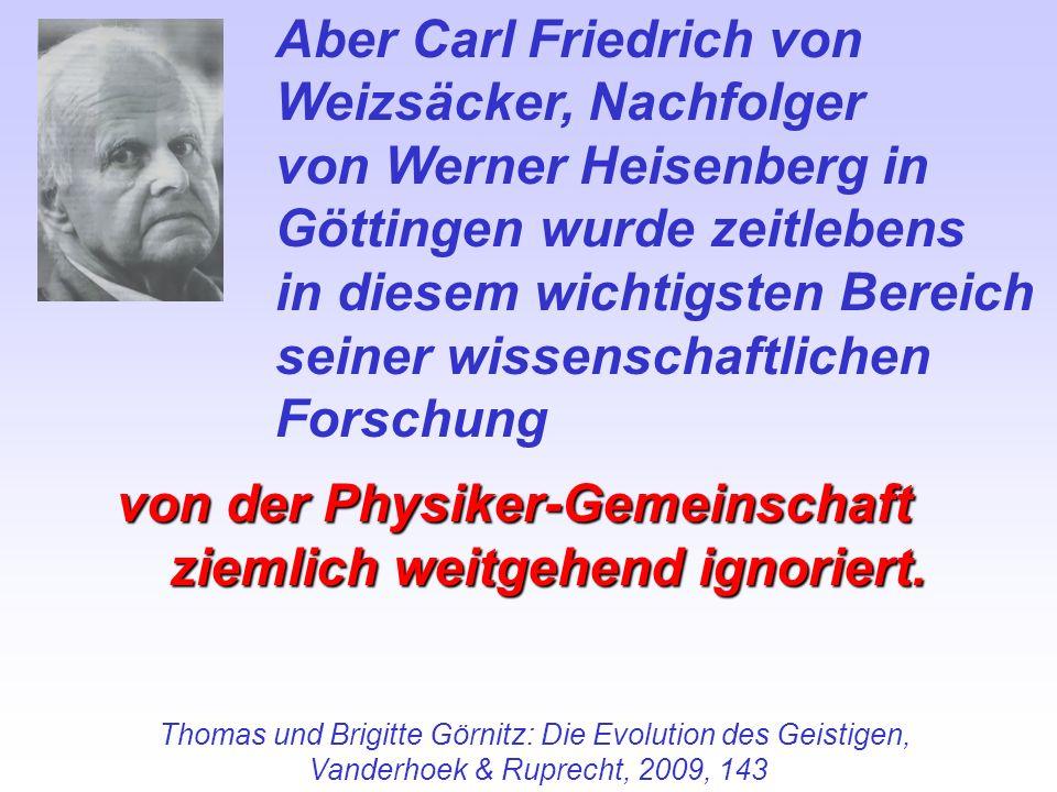 Thomas und Brigitte Görnitz: Die Evolution des Geistigen,
