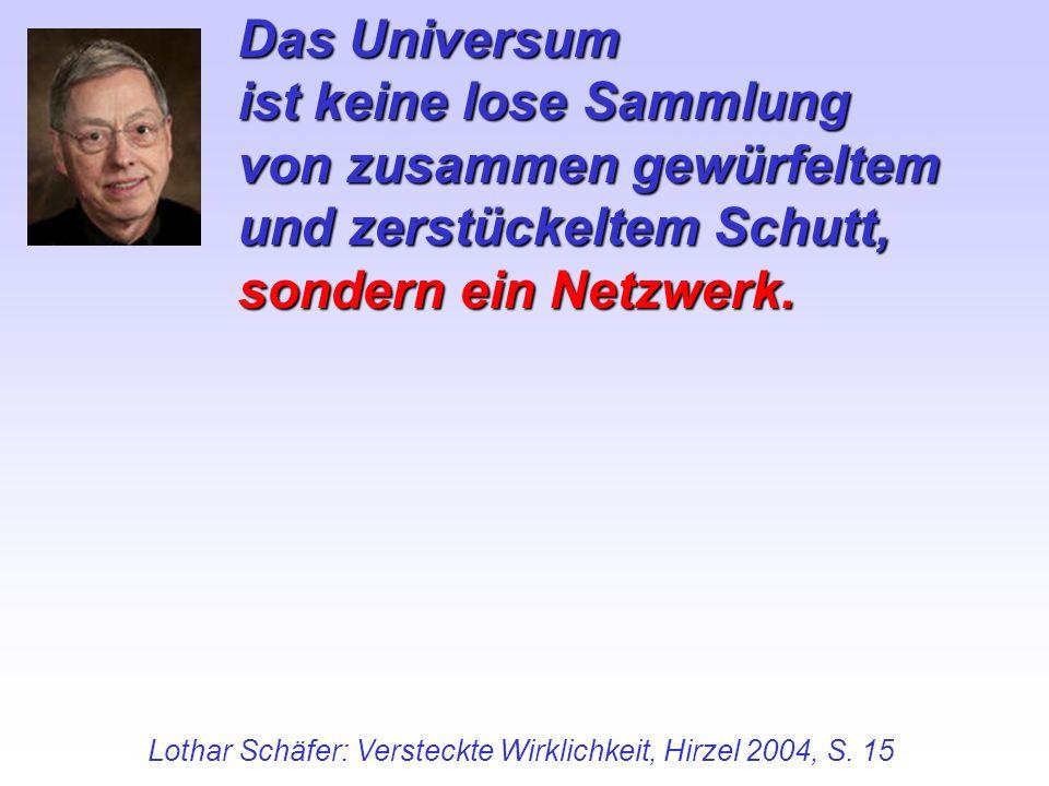Lothar Schäfer: Versteckte Wirklichkeit, Hirzel 2004, S. 15