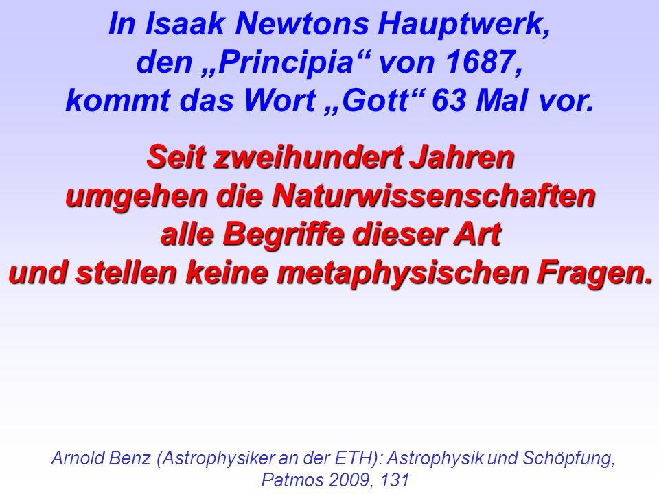 """In Isaak Newtons Hauptwerk, den """"Principia von 1687,"""