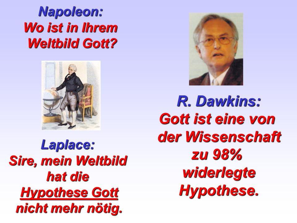 R. Dawkins: Gott ist eine von der Wissenschaft zu 98% widerlegte