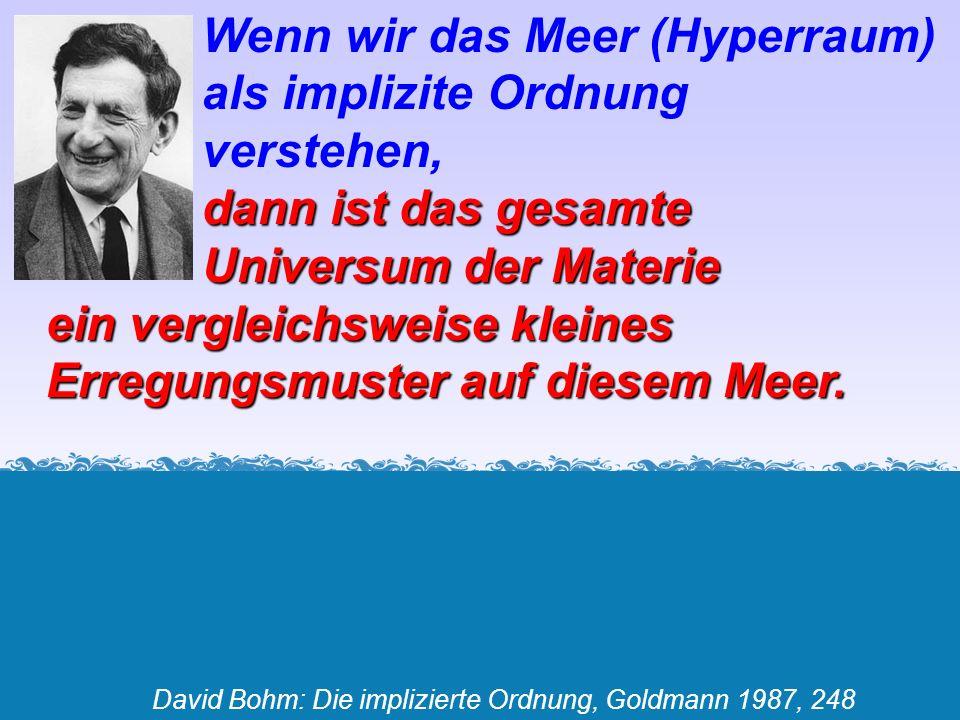 David Bohm: Die implizierte Ordnung, Goldmann 1987, 248