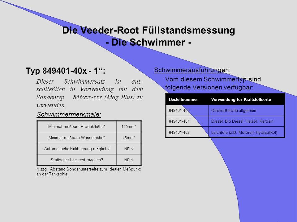 Die Veeder-Root Füllstandsmessung - Die Schwimmer -