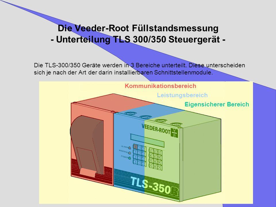 Die Veeder-Root Füllstandsmessung - Unterteilung TLS 300/350 Steuergerät -