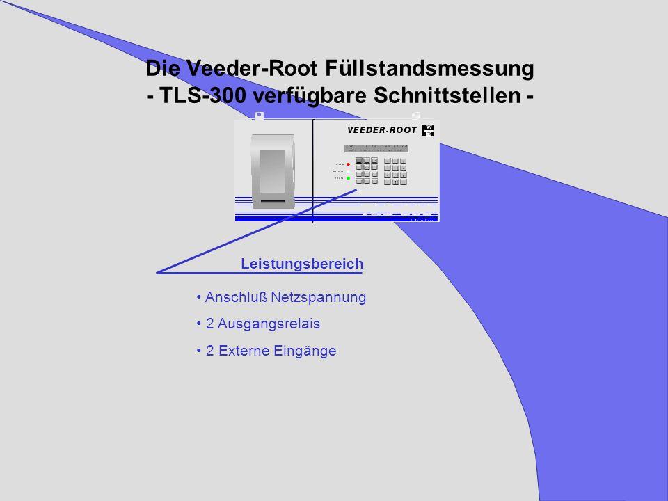 Die Veeder-Root Füllstandsmessung - TLS-300 verfügbare Schnittstellen -