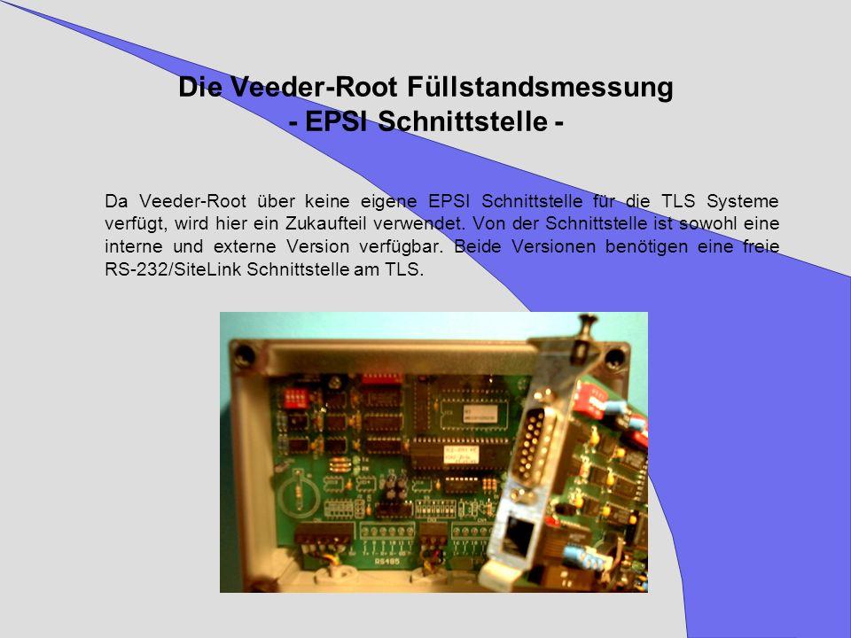 Die Veeder-Root Füllstandsmessung - EPSI Schnittstelle -